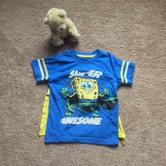 Shirt Shirtsamp; Superhero T TopsSpongebob Nickelodeon With wOPkuiZTX